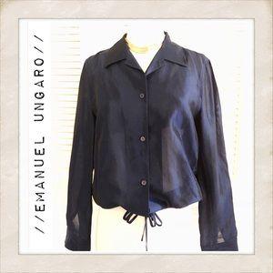 Emanuel Ungaro Vintage Sheer Blouse, Size 8
